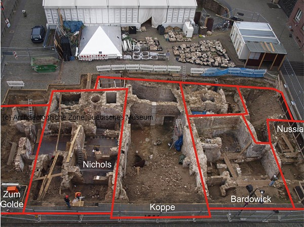 Excavation Area With Medieval Floor Plan Of The Houses